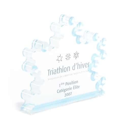 The Winter Triathlon Trophy of the Ste-Justine Hospital Foundation